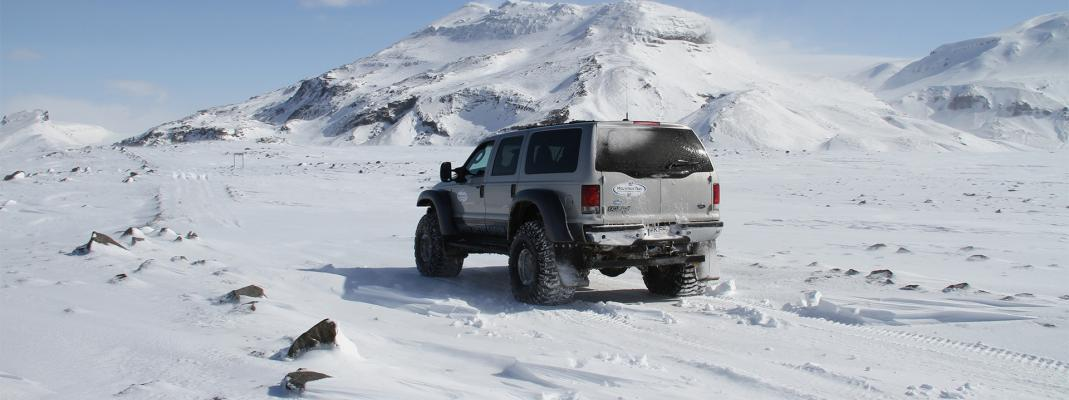 superjeep, island, vinter